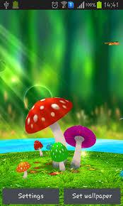 wallpaper 3d mushroom mushrooms 3d live wallpaper for android mushrooms 3d free download