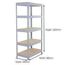 3 racking bays 90cm garage shelving storage warehouse shelves unit