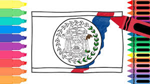 how to draw belize flag drawing the belizean flag coloring
