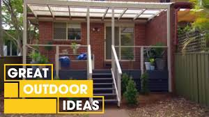 outdoor deck makeover outdoor great home ideas youtube