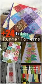 24 table runner patterns
