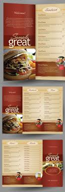 takeout menu template restaurant cafe take out menu template on behance