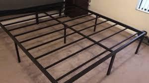 sleeplace heavy duty 18 inch steel frame slat bed frame youtube