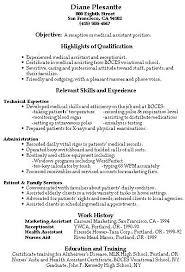 Sample Resume Receptionist Sample Resume For Medical Secretary Medical Secretary Resume