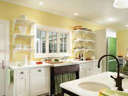pleasant green and yellow painted kitchen walls exterior is like