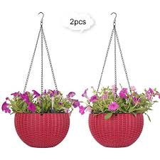 hanging planter basket amazon com growers hanging basket indoor outdoor hanging planter