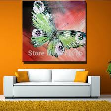 painting for home decoration hand painted abstract butterfly picture home decor knife oil