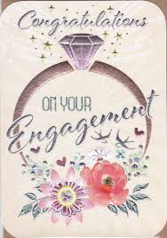congratulations on engagement card engagement ring flowers on your engagement card karenza paperie