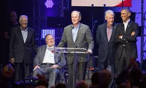 first five presidents hurricane relief all five living former presidents came together