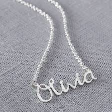 name necklaces silver personalised handmade silver name necklace from notonthehighstreet
