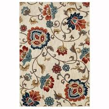 Mohawk Outdoor Rug Allen Roth Sheltstone Cream Rectangular Indoor Woven Area Rug