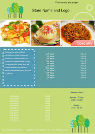 customizable menu templates customizable restaurant menu templates free