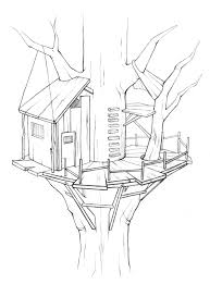 tree house 6 buildings and architecture u2013 printable coloring pages