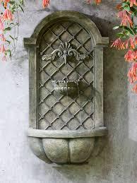 Garden Fountains And Outdoor Decor Loire Wall Fountain In French Limestone Garden Fountains