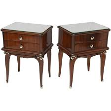 pair of french art deco mahogany nightstands for sale at 1stdibs