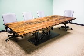 Wood Conference Table Attractive Custom Conference Tables Rectangle Shape Solid Wood