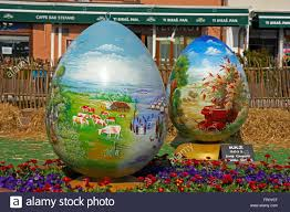 large easter eggs croatia koprivnica 20 march 2016 exhibition of large easter eggs