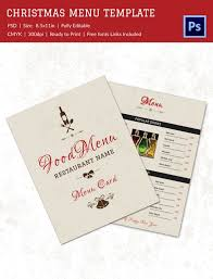 christmas menu design templates free u2013 fun for christmas