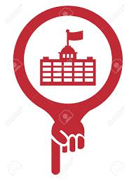 bureau de l immigration pointeur de carte icône ayant un lieu officiel bureau de l