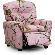 Youth Recliner Chairs Real Tree Pink Camouflage Upholstered Kids Recliner Rc Willey