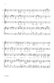 Three Blind Mice Piano Notes Mouse Madrigal Ssa Arr Steven Porter J W Pepper Sheet Music