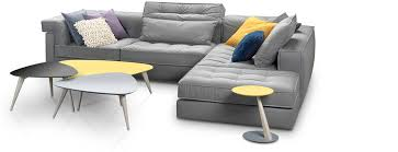 Furniture Modern Grey Fabric Sectional Sofa With Chaise And - Modern sofa company