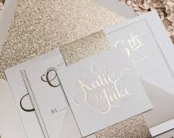 gold foil wedding invitations gold foil and glitter wedding invitation blush and gold