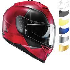 hjc motocross helmets hjc is 17 deadpool motorcycle helmet u0026 visor full face helmets