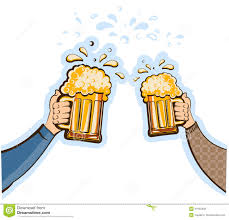 beer cheers cartoon hands man with glasses of beer vector oktoberfest stock photo