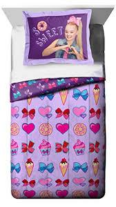 Purple Comforter Twin Amazon Com Nickelodeon Jojo Siwa Sweet Life Twin Full Purple