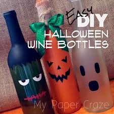 wine bottle halloween easy diy halloween wine bottles my paper craze