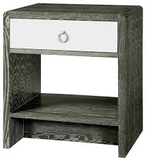 luce modern classic silver limed gray lacquer nightstand u0026 reviews