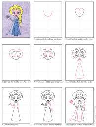 draw elsa art projects for kids
