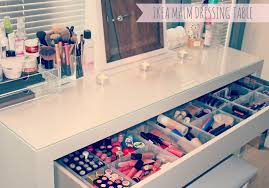my makeup storage and collection ikea malm dressing table great