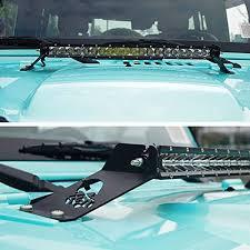 jeep jk hood led light bar jk jeep 21 hood mount and 100w led light bar combo