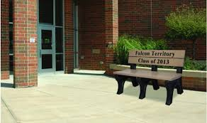 Park Benches Memorial Inlay Park Benches Barco Products