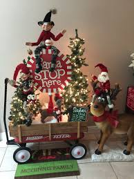 santa stops here raz elf radio flyer wagon happy deer