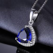 blue sapphire necklace pendant images Jewelrypalace triangle 2 65ct created blue sapphire necklaces jpg