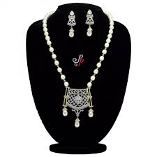 diamond pearl necklace set images Pearl necklace sets hyderabad nizam style long pearl necklace jpg