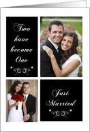 wedding announcement cards wedding photo announcements from greeting card universe