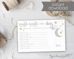 Baby Shower Invitations Bring A Book Instead Of Card Twinkle Twinkle Little Star Shower Keepsake Baby Wishes