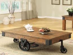 wood coffee table with wheels wonderful industrial coffee table on wheels with additional home
