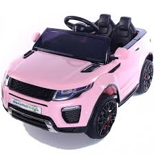 pink toy jeep range rover evoque style 12v child u0027s ride on car pink outdoor toys