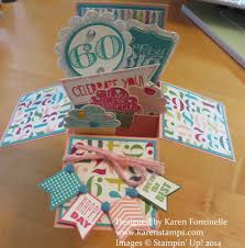Box Birthday Cards Pop Up Box 60th Birthday Card Sting With Karen
