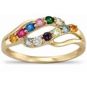 gold mothers rings rings with birthstones