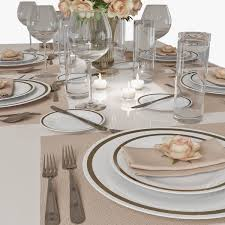 table setting 01 3d cgtrader