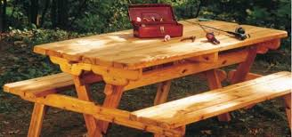 Free Woodworking Plans For Picnic Table by Picnic Table Plans Convert To Benches Woodwork City Free