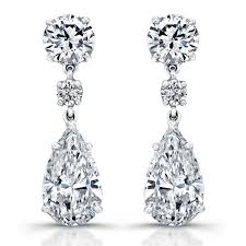 diamond earrings pear diamond earrings revere jewels
