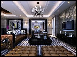 posh home interior luxurious living room with posh furniture 3d model max