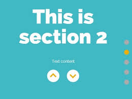 split layout js create a single page scrolling website with jquery and css3